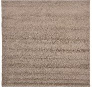 Ginger Snap Brown 6' x 6' Solid Frieze Square Rug | Area Rugs | eSaleRugs