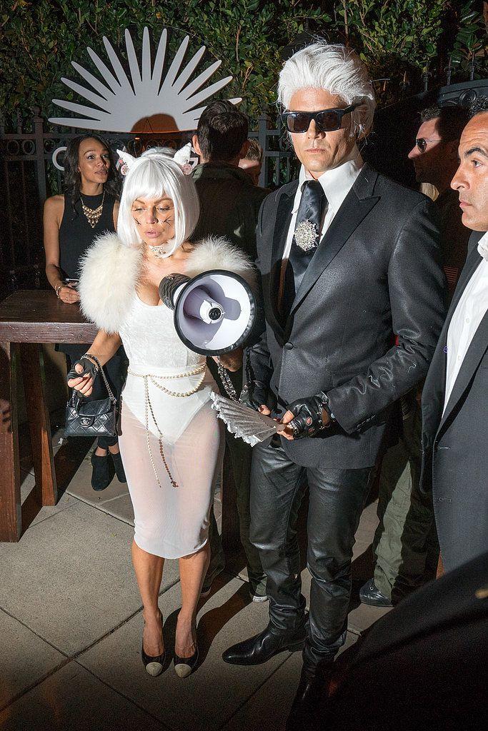 Fergie and Josh Duhamel Karl Lagerfeld Halloween Costume | POPSUGAR Fashion