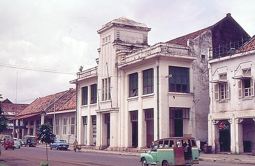 Indonesia, Batavia ( Jakarta).1977: the detoration started already  a scanned color slide by Antoni P. UnI