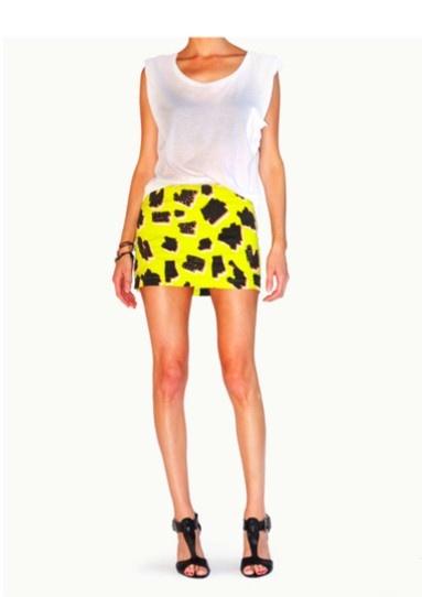 Green Leopard Mini Skirt B313 LP K15B