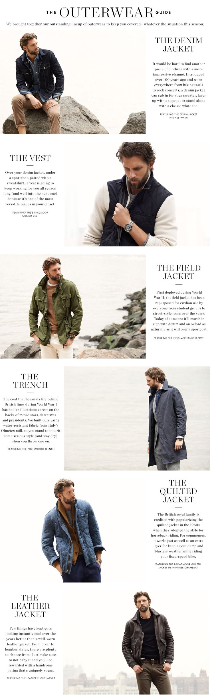 Outerwear for men