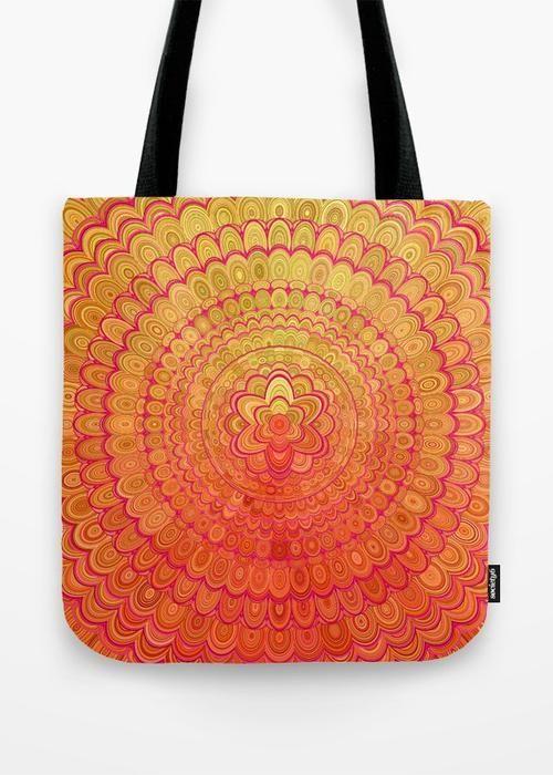 Statement Bag - yellow fractal by VIDA VIDA Sast Cheap Price Online Shop Cheap Sale Huge Surprise Free Shipping Big Discount pJ9XmtKAWT