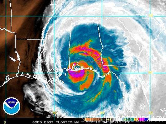 Direct Hit - Hurricane Ivan  September 16, 2004