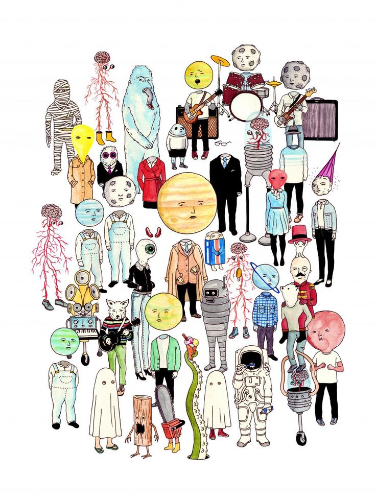 #ArtspaceFaves Moon Heads, 2011 by Andrew Rae. It's got all my favorite types of people!
