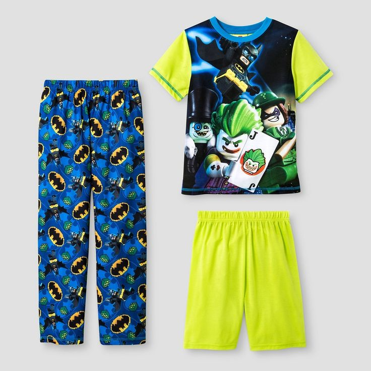 Boys' The Lego Batman Movie Pajama Set - Green XS, Boy's, Size: 4-5