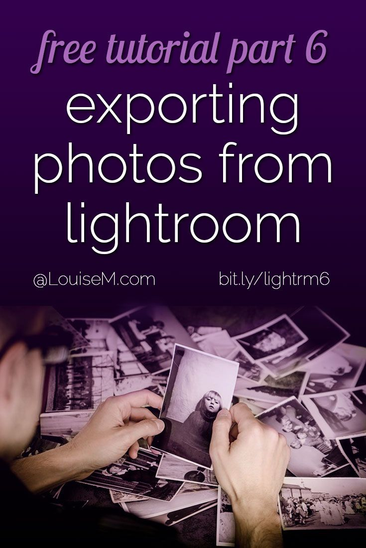 How to use Adobe Lightroom session 6: learn how to watermark and export photos from Lightroom so you can share them with the world! Repin to have links to all the other free tutorials handy in the post! https://louisem.com/43093/how-to-use-adobe-lightroom