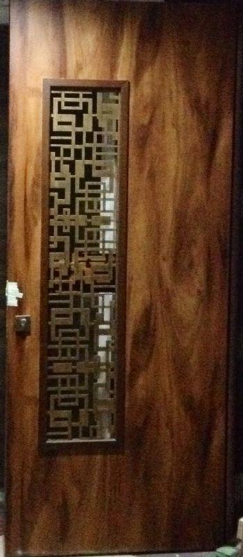 Laser Cut Main Door Grill in Brass Antique Finish. #stahldecor #lasercut #homedecor #interiors #architecture #interiordesigners #interiorstyling