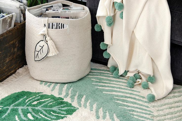 NEW Basket Leaf Natural #washablerugs #lorenacanals #basket #leaf #accesories