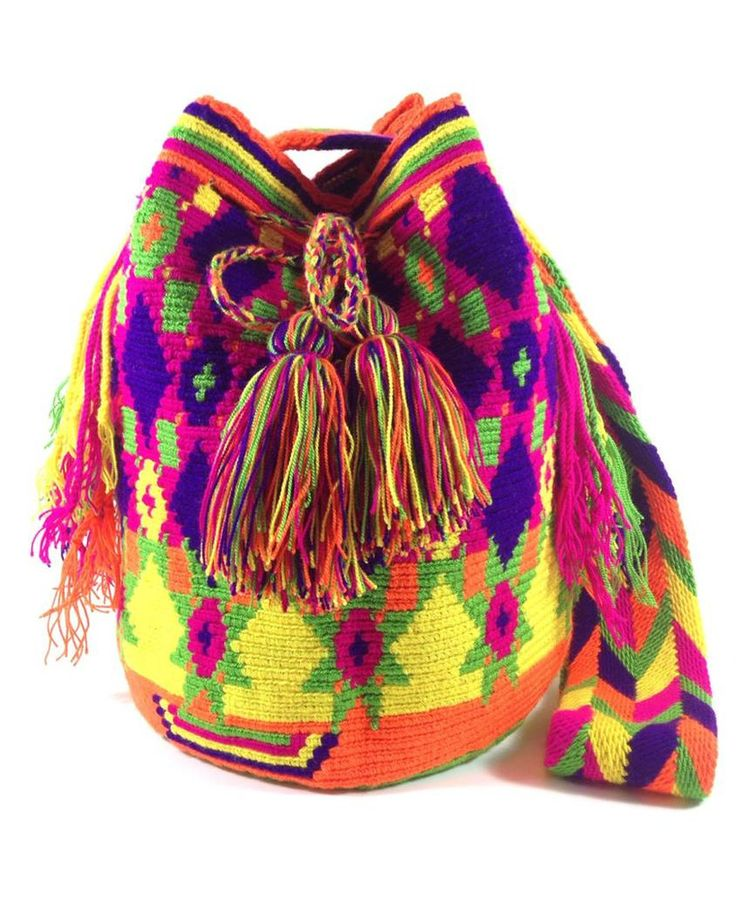LA GUAJIRA COLOR BURST WAYUU BAG available at www.shopkokay.com #wayuubag #kokay