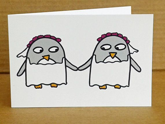Wedding Card for Gay Couple - Lesbian - Same Sex Marriage - Civil Ceremony…
