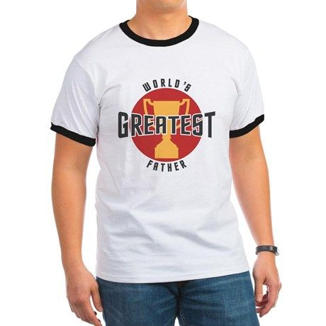 WORLDS GREATEST FATHER T-Shirt on CafePress.com.com #fathers #dad #fathersday
