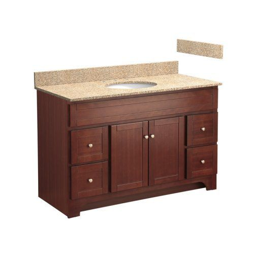 Image Gallery Website Foremost Columbia in Single Bathroom Vanity with Wheat Beige Granite Top Cherry Review Buy