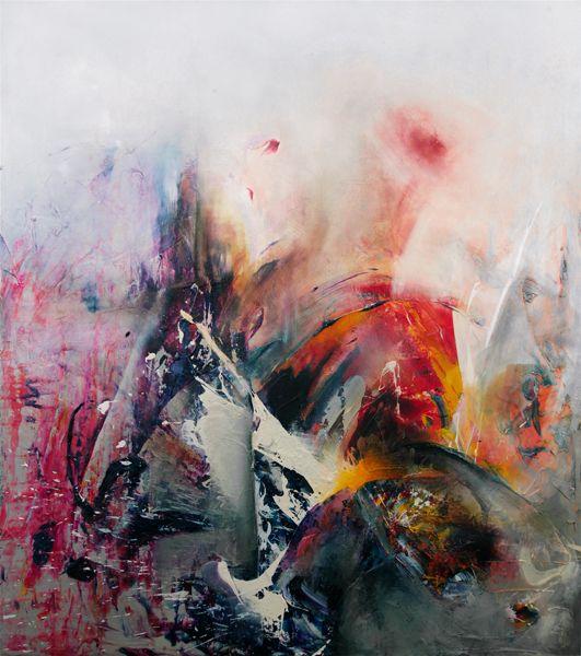 Michal Ozibko Silence-rustle-noise 260x230cm acrylic on canvas 2010