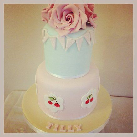 Cath kidston inspired cake Cake by TheFairycupcaker