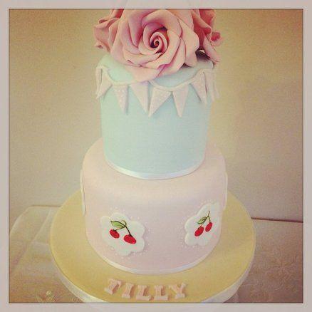 Cath kidston inspired cake Cake by TheFairycupcaker