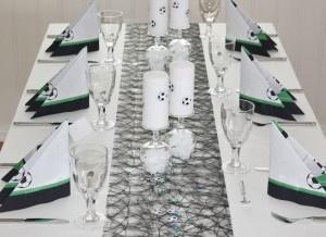 Football decoration, pyntet bord til fotball konfirmant