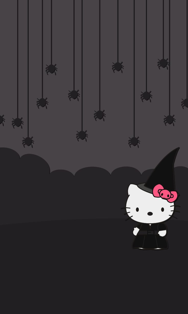 Hello Kitty Tapete Auf Rechnung : Hello Kitty Halloween iPhone Wallpaper