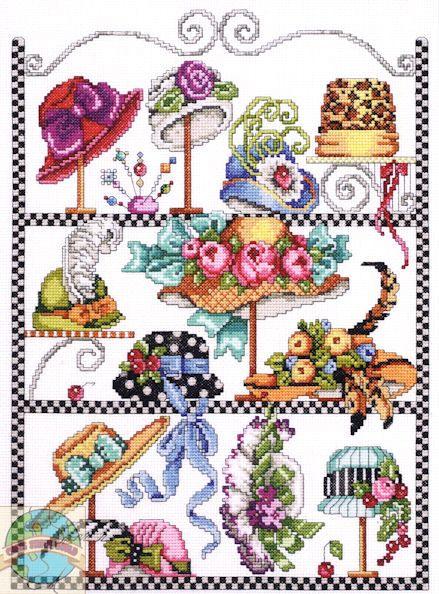 Janlynn - Hat Collage - Cross Stitch World