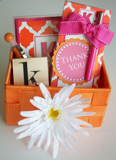 Simply This and that: Thank You Basket + Printable Tag