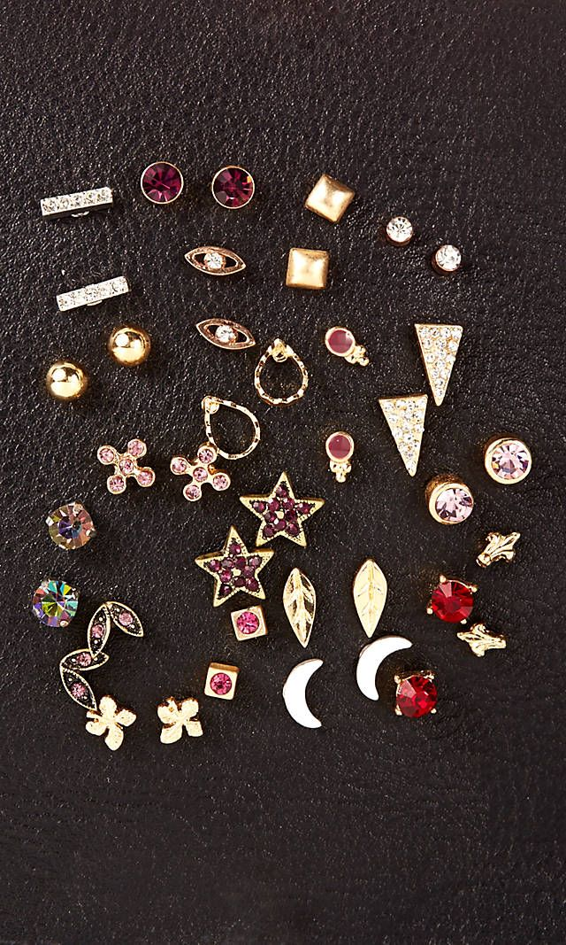 The perfect secret santa gift! 20 Pack Stud Earring Set from EXPRESS