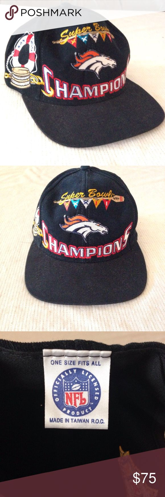 RareDenver Broncos Super Bowl 32 NFL Hat Rare! Pure collector's item right here! Commemorate Denver's Super Bowl XXXII Championship with this super rad hat. 100% authentic NFL gear. In perfect condition. Amazing vintage item - perfect for the Oranger Crush addict - offers welcome!  Broncos Mile High City Magic Elway Manning Thomas Von Miller Mile High Stadium San Diego Football NFL Accessories Hats