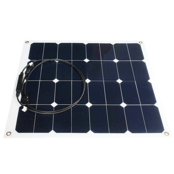 12v 50w монокристаллический Полуэластичное панель солнечной батареи зарядное устройство для с.в. лодки умный автомобиль