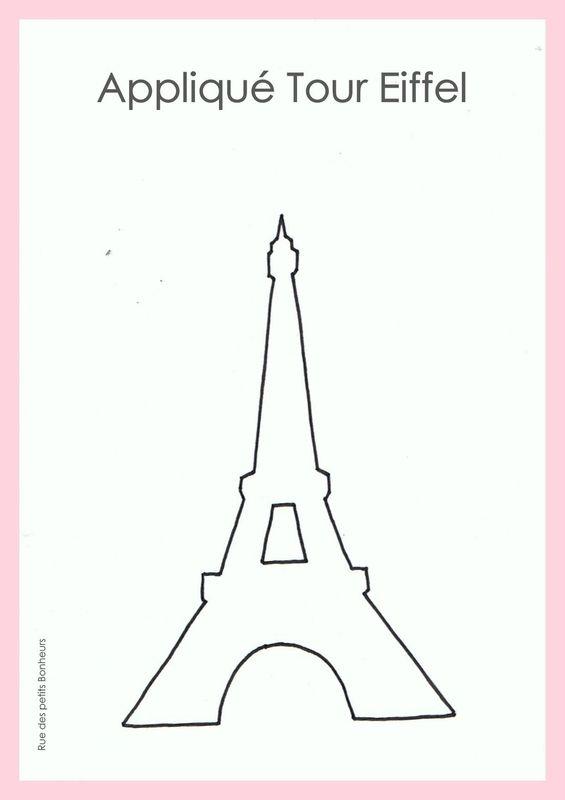 Appliqué couture Tour Eiffel