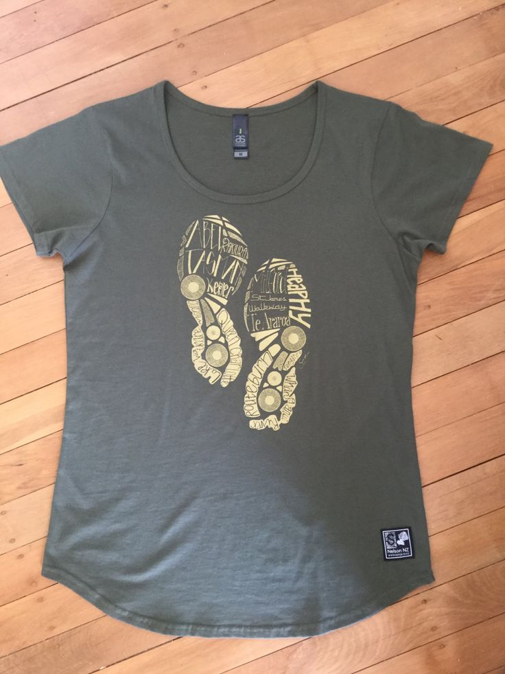 Ladies Khaki Tramping Tee by SonjaHandcraftedTees on Etsy