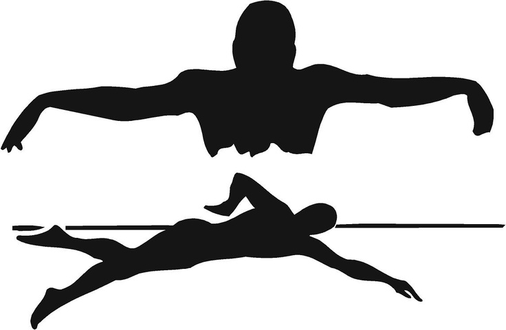 Gallery For gt Swimming Silhouette