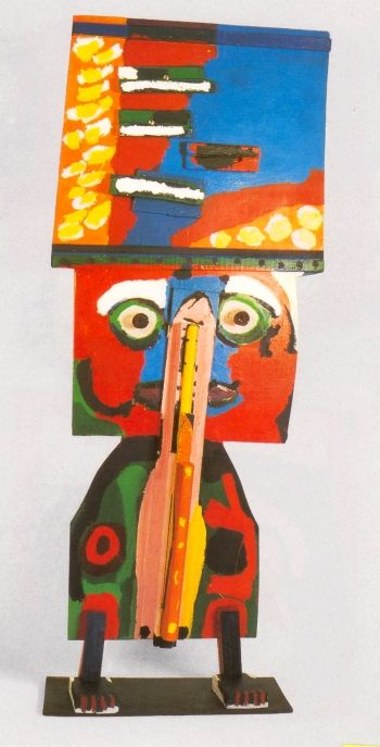 Karel Appel: The Man with a Hat Like the Sky, 1966