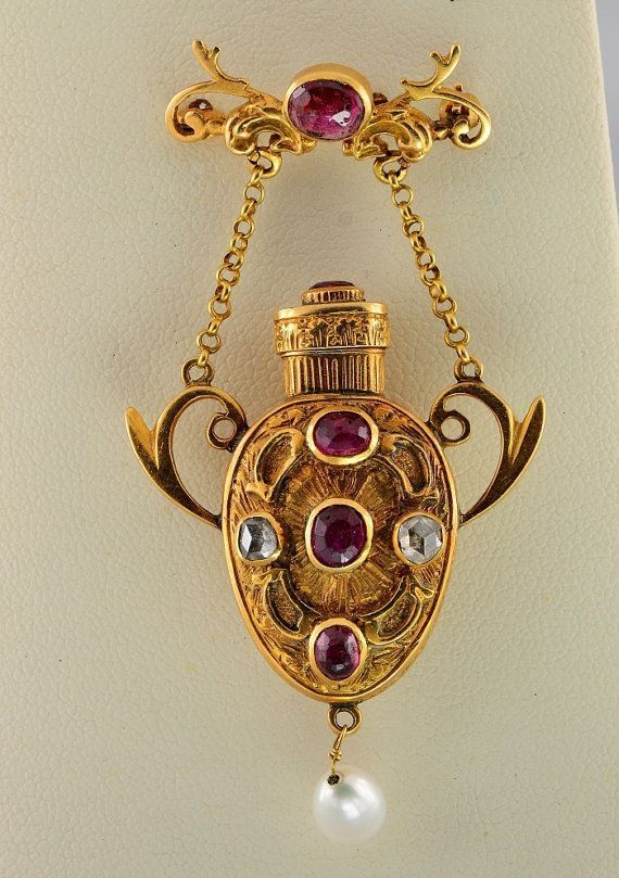 Victorian gold, ruby beauty bling jewelry fashion