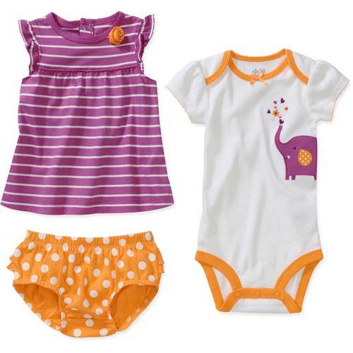 Child Of Mine By Carters Newborn Girls 3 Piece Elephant