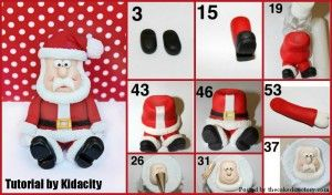 Fondant Santa Tutorial by Kidacity - The Cake Directory - Tutorials and More