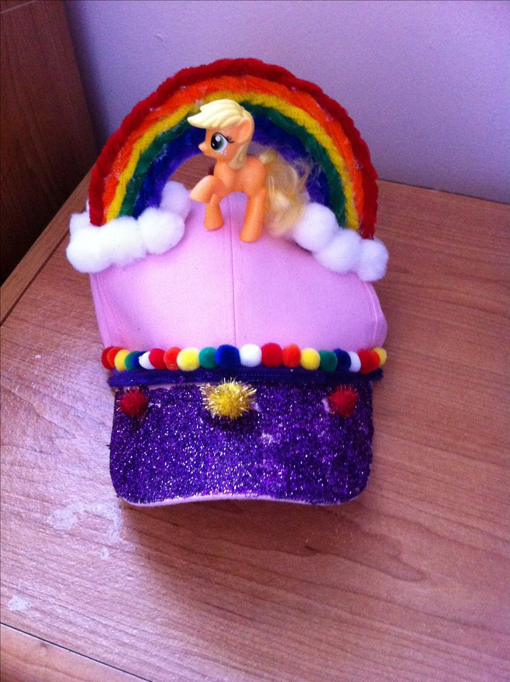 Rainbow hat for crazy hat day