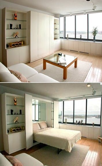 Very Small Modern Bedroom best 25+ modern murphy beds ideas on pinterest | wall beds, murphy