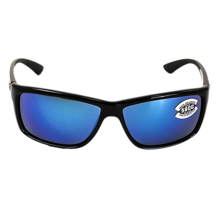 Costa Del Mar AA11OBMGLP Mag Bay Polarized Blue Mirror 580G Lenses Shiny Black TR 90 Nylon Frame Sunglasses - Discount Watch Store