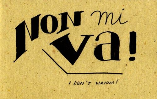 Learning Italian Language ~ Non mi va! (I don't wanna!)