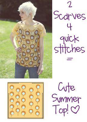 Tanti stili per il vestito-foulard DIY   www.lepecionate.com