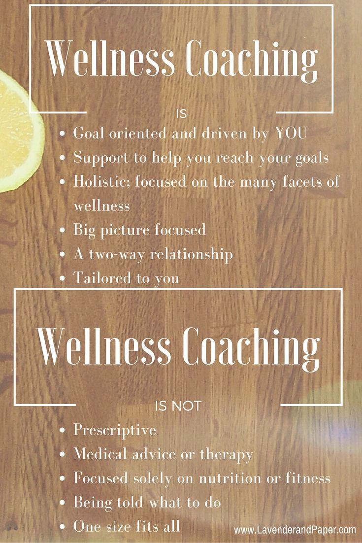 What wellness coaching is and is not                                                                                                                                                                                 More