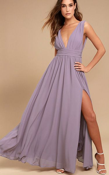 Heavenly Hues Dusty Purple Maxi Dress via @bestmaxidress