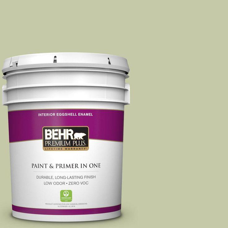 BEHR Premium Plus 5-gal. #M350-3 Sap Green Eggshell Enamel Interior Paint