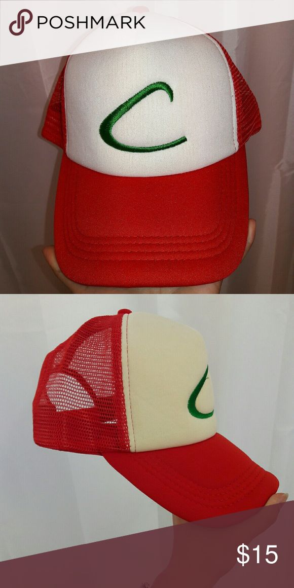 Ash Ketchum Hat - Pokemon It's a hat for adults. Red, white and green. Could be fun for a costume or cosplaying. Ask me anything you want to know about it :) Accessories Hats