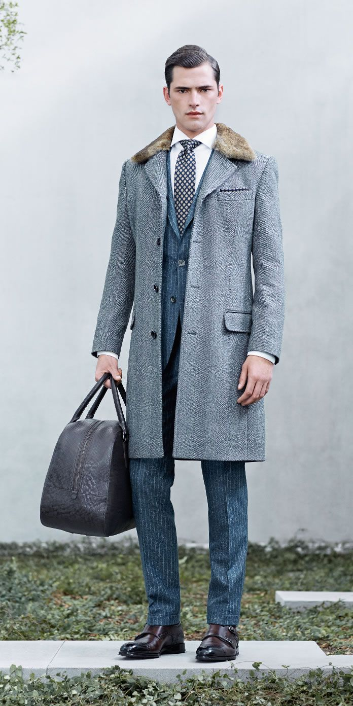 Sean OPry + Mathias Bergh Model Business Fashions for Hugo Boss Fall/Winter 2014 image boss business001