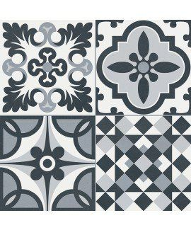 HERITAGE BLACK/WHITE 33X33 - SQM