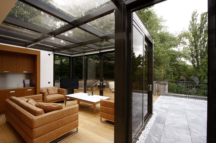 Framed Glass roof extension by IQ Glass