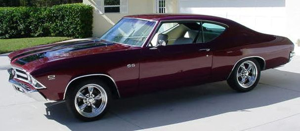 1969 Chevelle SS....man, it's already my fave color and everything...