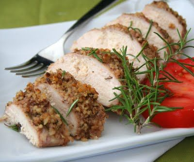 Walnut Rosemary Crusted Chicken (Low Carb and Gluten Free) | All Day I Dream About Food