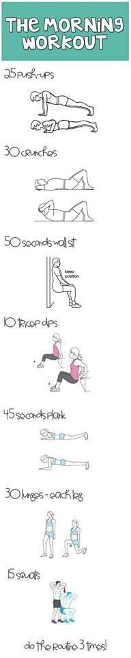 My new workout plan for the morning and half before bed :)