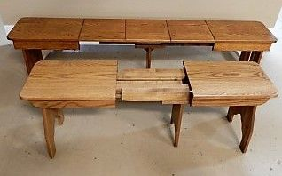 Extend A Bench Shown Open Kitchen Dining Room Furniture
