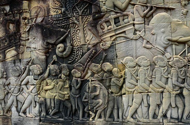 142 best images about art de l 39 inde on pinterest temples for Bas relief mural